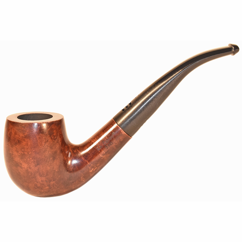 Carey Magic Inch Smoking Pipe - Full Bent Honey Brown Smooth