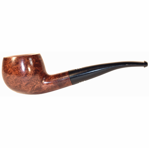 Carey Magic Inch Pipe - Half Bent Honey Brown Smooth Apple