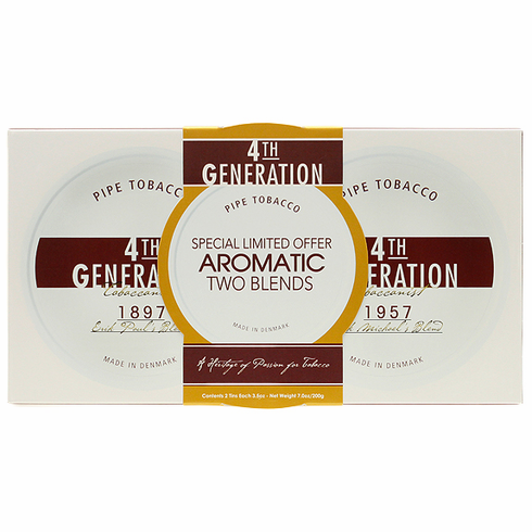 2 Pack 4th Generation 1897 & 1957 Aromatic Pipe Tobacco Tins