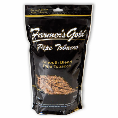 Farmers Gold Smooth Fine Cut Loose Pipe Tobacco - 16 oz Bag