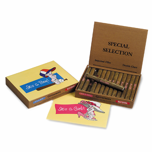 It's a Boy / It's a Girl Cuesra-rey Caravelle Birth Announcement Cigars