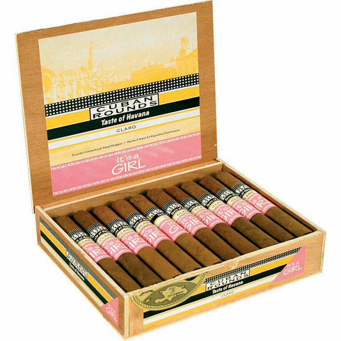 It's a Girl / It's a Boy Cuban Rounds Birth Announcement Cigars