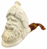 Large Laughing Bacchus White Turkish Meerschaum Smoking Pipe