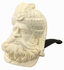 Large Sultan White Turkish Meerschaum Smoking Pipe