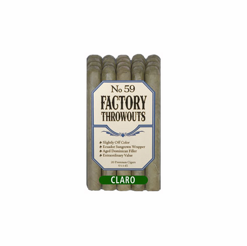 No. 59 Factory Throwouts Cigars by J.C. Newman Cigar Co - Bundle of 20 Claro/Candela