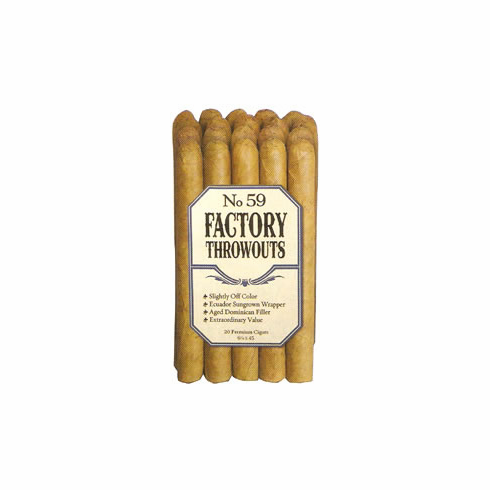 No. 59 Factory Throwouts Cigars by J.C. Newman Cigar Co - Bundle of 20 Natural