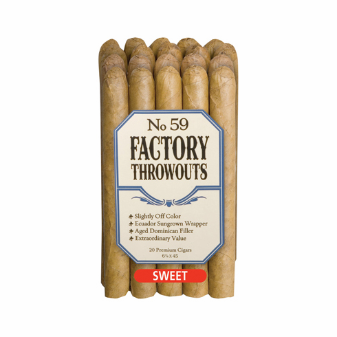 No. 59 Factory Throwouts Cigars by J.C. Newman Cigar Co - Bundle of 20 Sweet