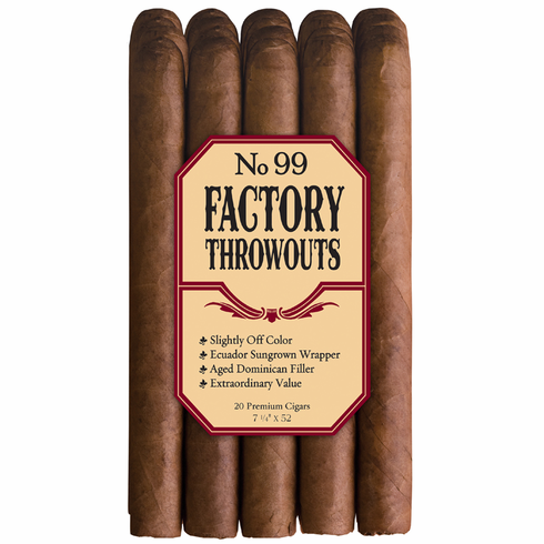 No. 99 Factory Throwouts Cigars by J.C. Newman Cigar Co - Bundle of 20 Natural