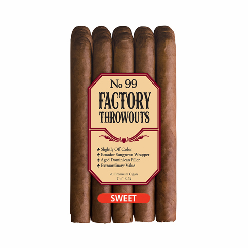No. 99 Factory Throwouts Cigars by J.C. Newman Cigar Co - Bundle of 20 Sweet