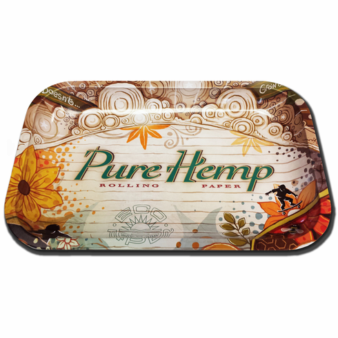 Pure Hemp Small Roll-Your-Own Cigarette Rolling Paper Tray