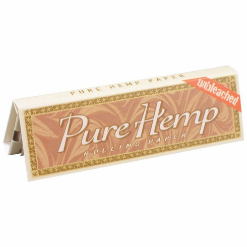 Pure Hemp Unbleached Smoking Cigarette Rolling Papers - Size Regular Single Wide