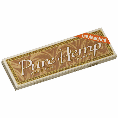 Pure Hemp Unbleached Smoking Cigarette Rolling Papers - Size 1-1/4