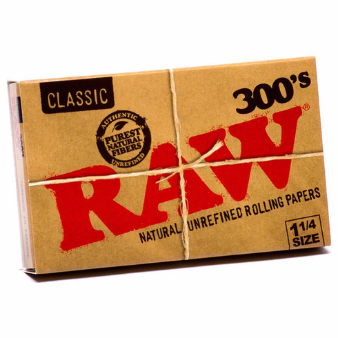Raw Classic 300's Natural Unrefined Cigarette Rolling Papers