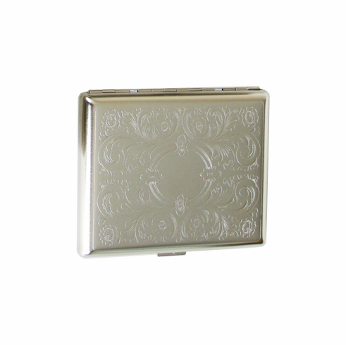 Regular, King Size or 100's Double Sided Crush-Proof Metal Cigarette Case