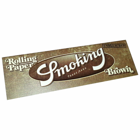 Smoking Brown Unbleached Rice 1-1/4 Roll Your Own Cigarette Rolling Papers