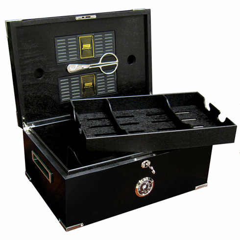 The Dakota Desktop Cigar Humidor Gift Set
