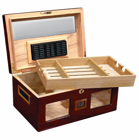 The Valencia Digital Desktop Cigar Humidor