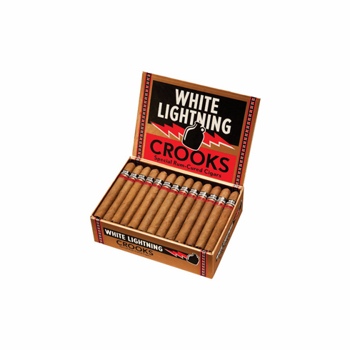 White Lightning Crooks Rum Cured Cigars - Box of 50