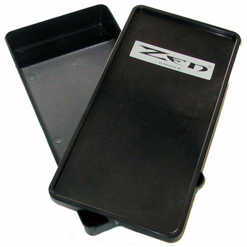 Zen Smoker's Roll-Your-Own Cigarette Rolling Tray Box w/Lid & Storage Compartment