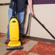 Carpet Pro CPU-350 commercial upright vacuum with tools