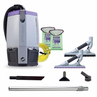 ProTeam 107535 Super Coach Pro 6 HEPA Backpack Vacuum W/ ProBlade Hard Surface & Carpet Tool Kit
