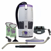 ProTeam 107507 GoFree Flex Pro HEPA Cordless Backpack Vacuum W/ 107100 Telescoping Wand Tool Kit
