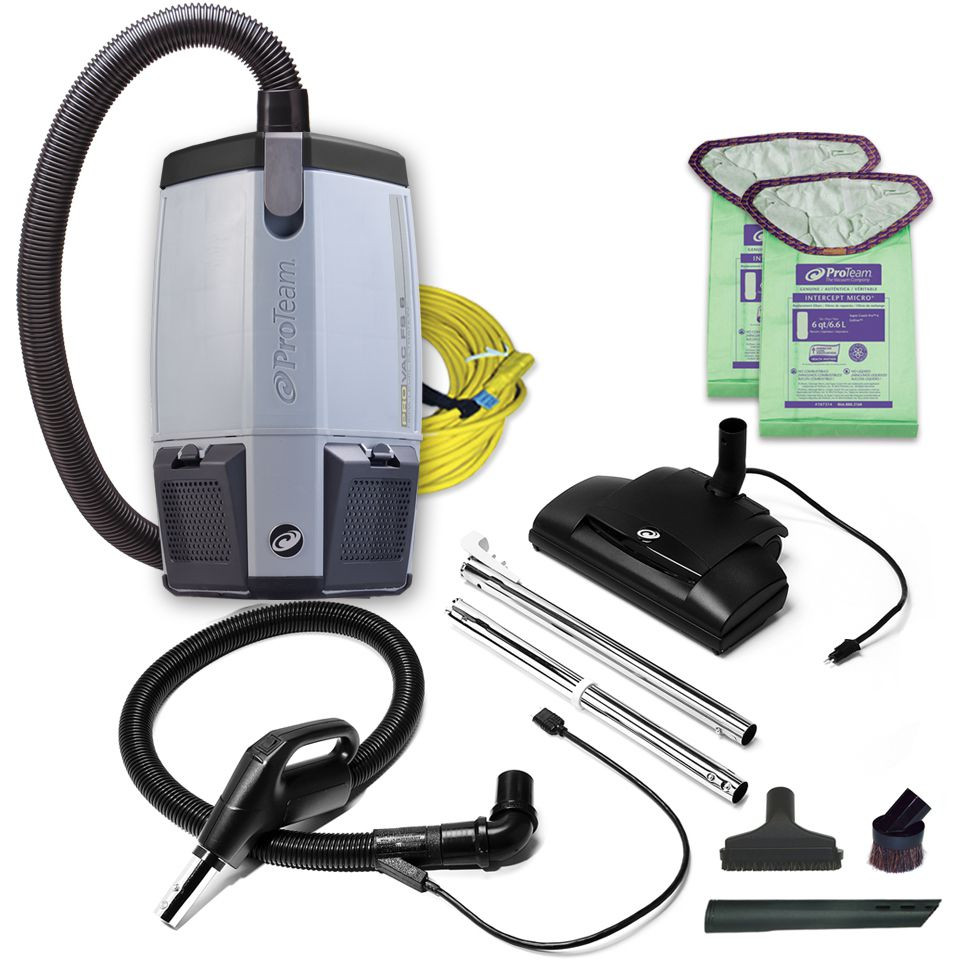 ProTeam 107461 ProVac FS 6 Qt Backpack Vacuum W Commercial Power Nozzle