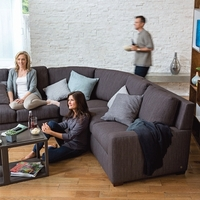 Sectional Sleepers in fabric or leather