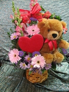 Valentines Bear Basket