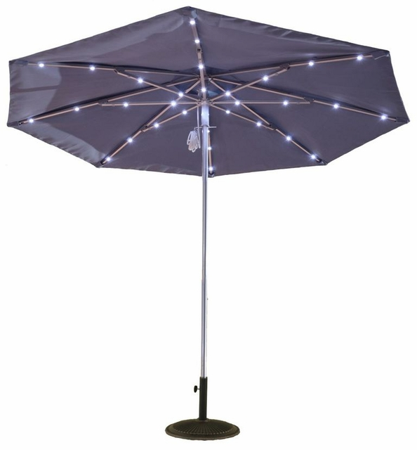 9 ft. Commercial Aluminum Market With Pulley, No Tilt, and Solar Light Kit