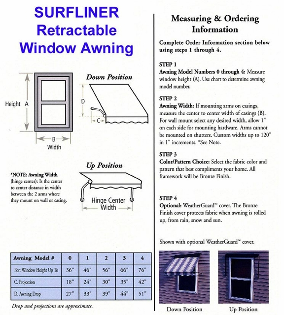 Surfliner Retractable Window Awnings