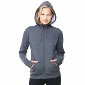 Alo Ladie's Performance Fleece Full-Zip Hoodie with Runner's Thumb
