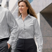 Ashworth Ladies' EZ-Tech Woven Shirt
