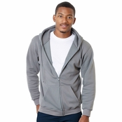 Bayside USA Made Hooded Full-Zip Fleece