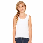 Bella Girl's 1x1 Baby Ribbed Tank Top