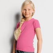 Bella Girl's Baby Rib Crew Neck Tee