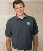 Custom Embroidered Hanes Pique Knit Polo Shirt