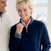 Devon & Jones Ladies' Berkshire Quarter Zip Pullover