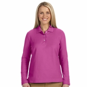Devon & Jones Ladies' Long Sleeve Polo Shirt