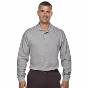 Extreme Men's Long Sleeve Pique Polo Shirt