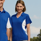 Harriton Ladies' Side Block Micro-Pique Polo Shirt