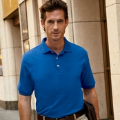 Harriton Ringspun Cotton Pique Knit Polo Shirt