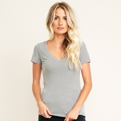 Next Level Ladie's CVC Deep V-Neck Tee