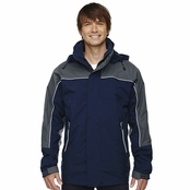 North End Men's Techno Performance 3-In-1 Mid-Length Jacket