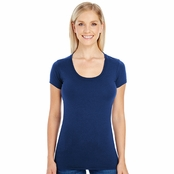 Threadfast Apparel Ladie's Spandex Short-Sleeve Scoop Neck Tee