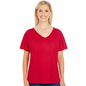 Threadfast Apparel Ladie's Triblend Fleck Flowy V-Neck Tee