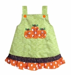 Custom Girl's Thanksgiving 3 Three Pumpkins Dress