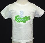 Monogrammed 1st Birthday Alligator  Shirt & Shorts Pants