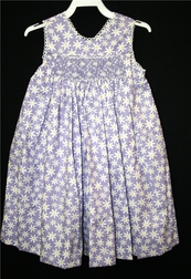 Smocked Girl's Dress With Daisies By Amanda Remembered.