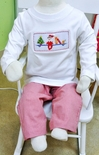 Anavini Smocked Elf on the Shelf Boy Shirt & Pants Set